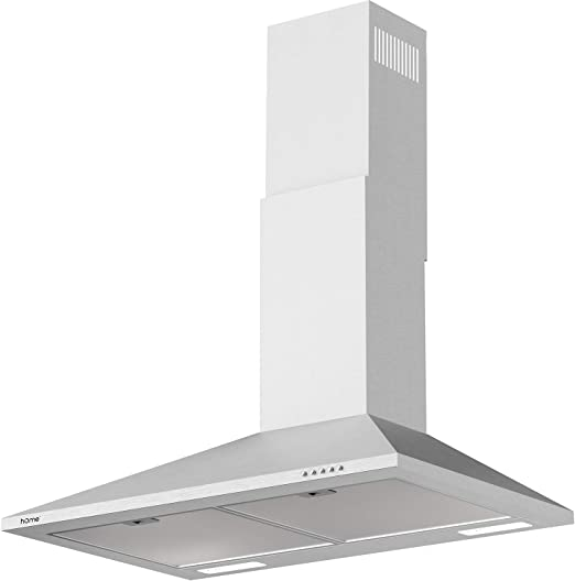 Amazon Com Homelabs 30 Inch Wall Mount Range Hood Exhaust Fan For Kitchen Stainless Steel With 3 Suction Speeds Led Lights And Push Button Controls Clears Area Up To 220 Cfm Appliances