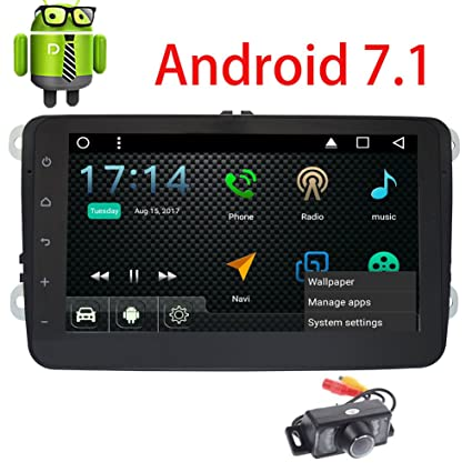 Eincar Android 7.1 Car Stereo for VW Golf Passat Double Din Headunit GPS Sat Navigation with