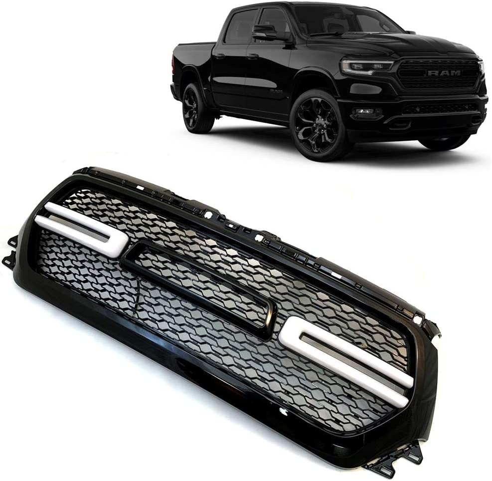 amazon com westco painted brilliant black pearl front grille code pxr for 2019 2020 dodge ram 1500 truck grill with led light and letter axr ay112axr ay97axr pxr automotive westco painted brilliant black pearl front grille code pxr for 2019 2020 dodge ram 1500 truck grill with led light and letter axr ay112axr ay97axr