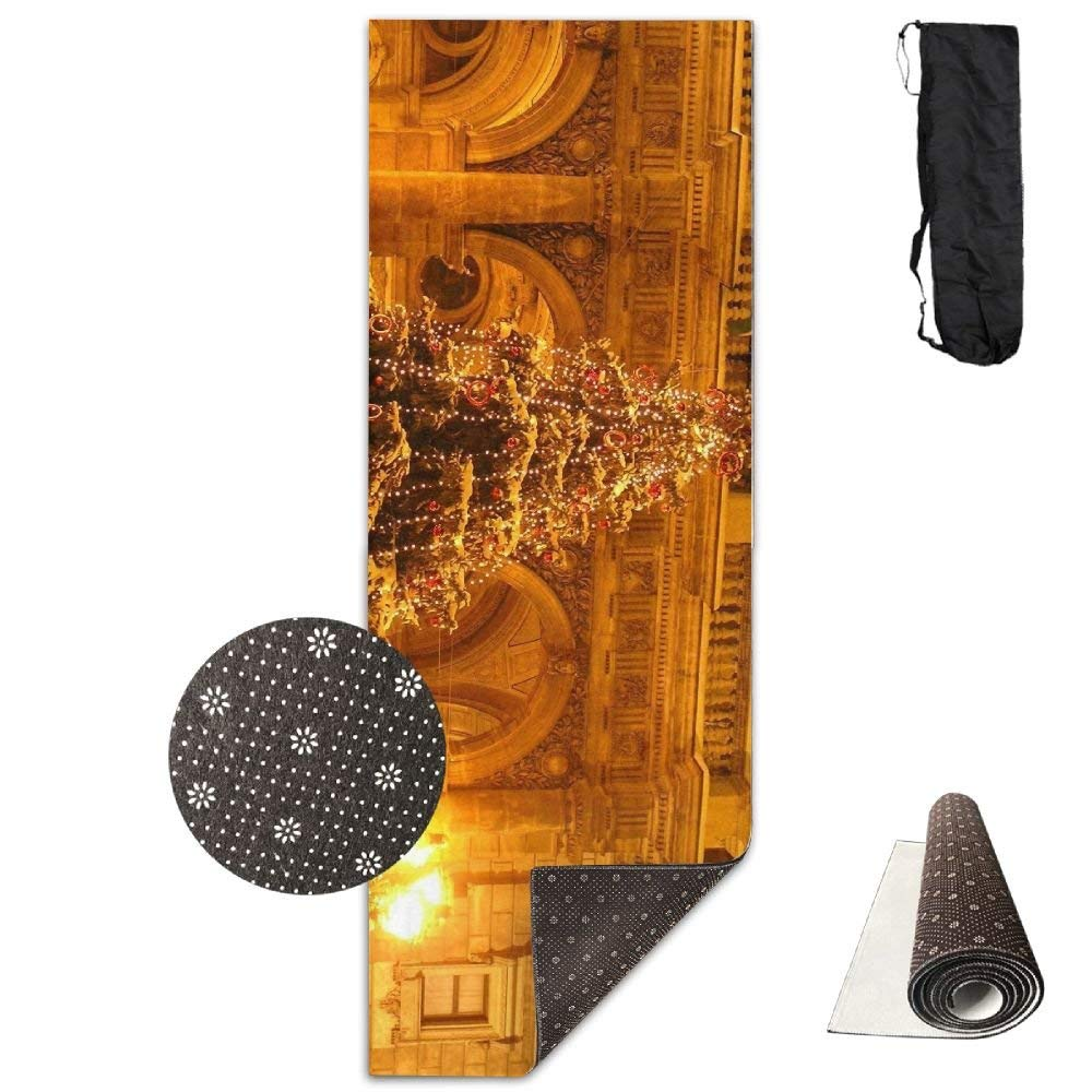 Tree Holiday Garland Square New Year Christmas ECO Aqua Power Kinematic Iyengar Kundini Hot Pilates Gymnastics Hatha Yoga Mat and Other Mats That Need to Be Performed On The Ground