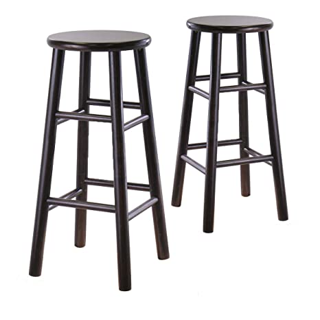 Superb Winsome Wood S 2 Wood 30 Inch Bar Stools Espresso Finish Andrewgaddart Wooden Chair Designs For Living Room Andrewgaddartcom