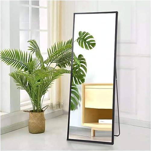Beauty4U Full Length Mirror Black Floor Mirror Free Standing
