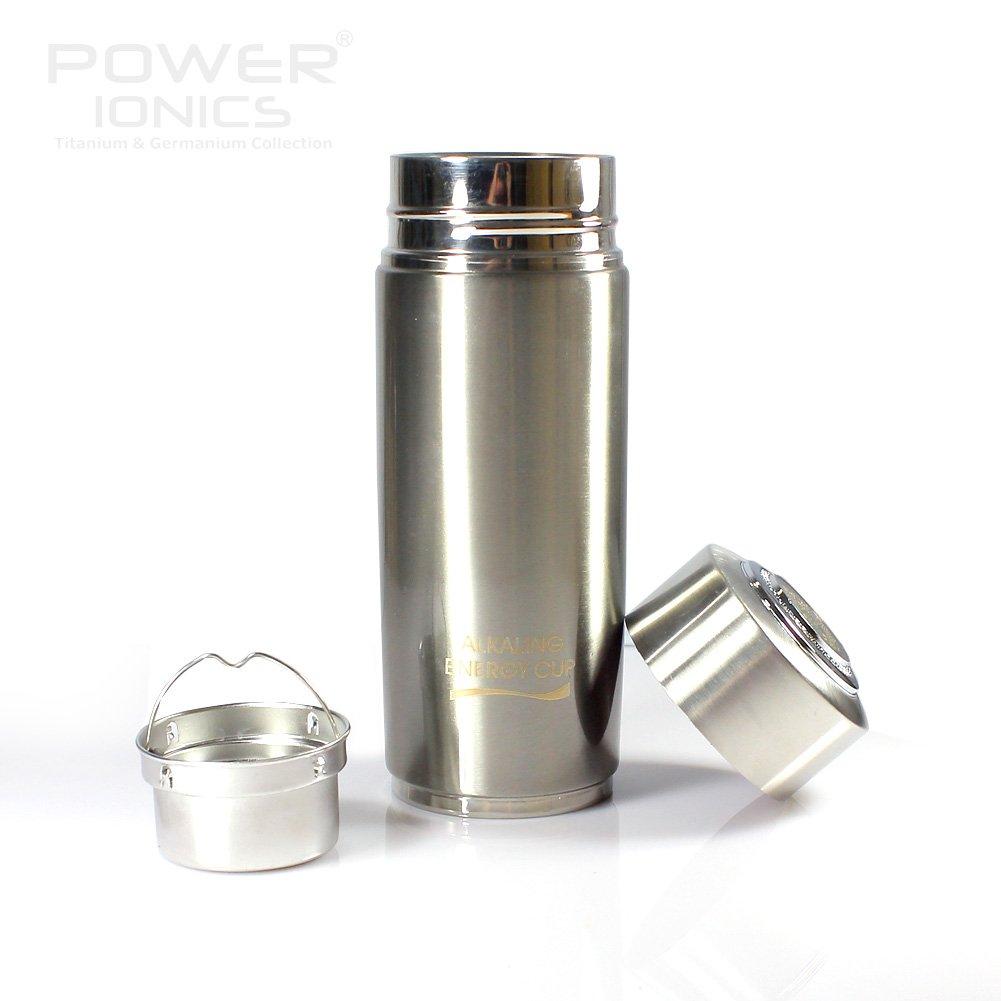Power Ionics Health Ion Alkaline Water Purifier pH Ionizer Bottle Cup-Black Filter Ionizer Flasche Trinkflasche Original Power Ionics HL015 (silver)