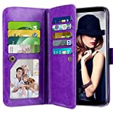 Galaxy S9 Case, Vofolen Galaxy S9 Case Wallet Detachable Card Holder Folio Flip Cover PU Leather Case Magnetic Protective Shell Heavy Duty Protection TPU Bumper Armor Case for for Galaxy S9 (Purple) For Sale