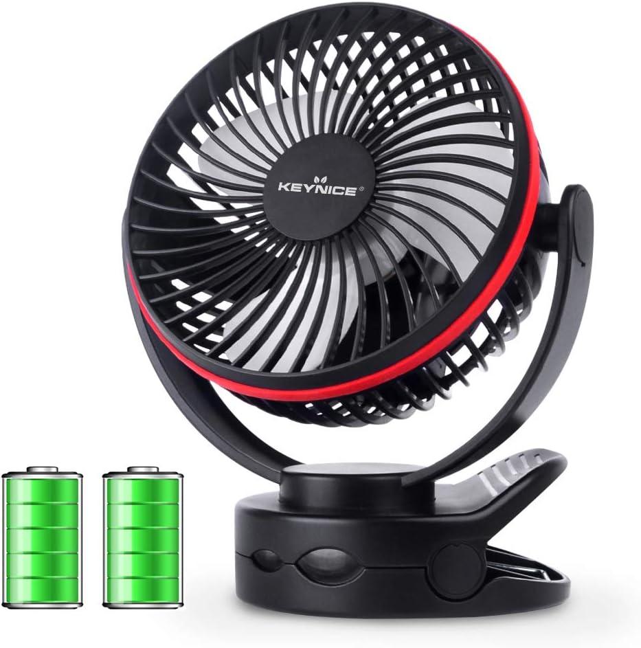 KEYNICE usb扇風機 卓上扇風機 クリップ 充電式