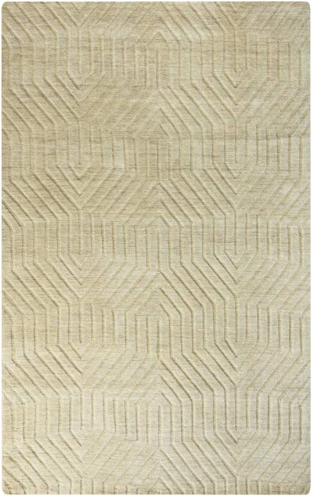 Rizzy Home Technique Collection Wool Area Rug, 9' x 12', Tan Solid