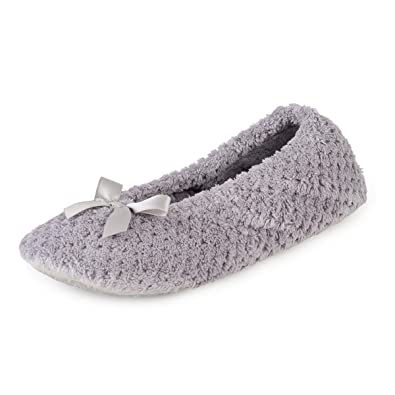 5bbdb102c1a0 Isotoner Ladies Popcorn Ballet Slippers: Amazon.co.uk: Shoes & Bags