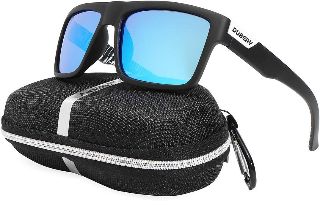 DUBERY Polarisierte Sport Sonnenbrille Herren Outdoor Fahren Schutzbrillen