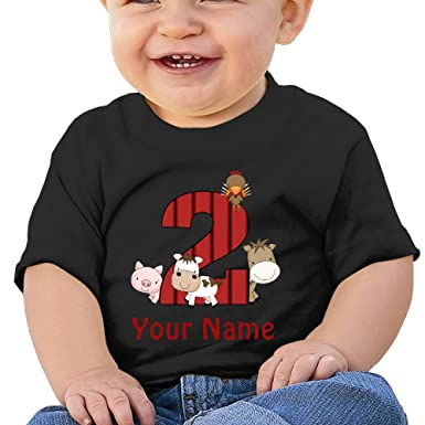 BABY0KOK 2nd Birthday Farm Animals Boys Girls Toddler Soft 100 Cotton T Shirts