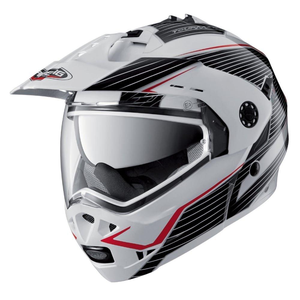 Motorbike Motorcycle Dual Sports Helmet Caberg Tourmax Flip Up Modular Matt Black