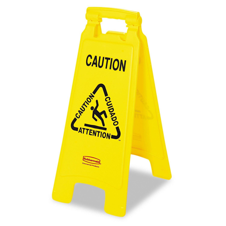 """Amazon.com: Rubbermaid-cartel """"Wet Floor"""", en ..."""