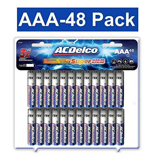 ACDelco AAA Batteries, Alkaline Battery, 48 Count