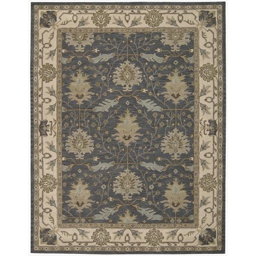 """Nourison India House (IH75) Blue Rectangle Area Rug, 8-Feet by 10-Feet 6-Inches (8' x 10'6"""") from Nourison"""