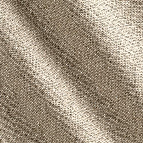 Oyster Linen - Robert Kaufman Essex Yarn Dyed Linen Blend Metallic Oyster Fabric by The Yard