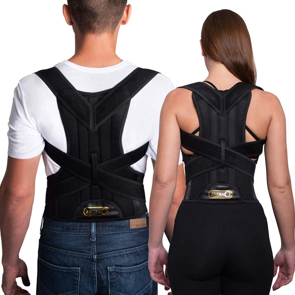 Breathable Back Support Posture Corrector Upper and Lower Back Pain Relief for Men and Women. S ZSZBACE Back Brace
