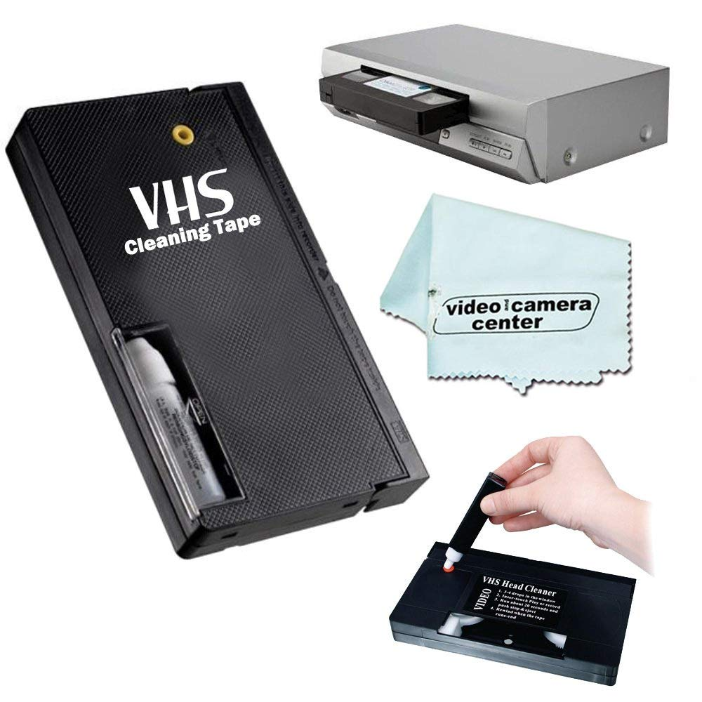VHS Video Wet Head Cleaner Tape + 1 VCC113 Microfiber by VCC113