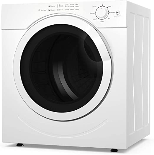 Amazon Com Costway Electric Compact Laundry Dryer 13lbs Capacity Tumble Dryer With 1500w Drying Power 3 2cubic Feet Front Load Portable Clothes Dryer Easy Control For 7 Automatic Drying Mode White Appliances