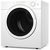 COSTWAY Electric Compact Laundry Dryer, 13LBS Capacity Tumble Dryer with 1500W Drying Power, 3.2Cubic Feet Front Load, Portable Clothes Dryer Easy Control for 7 Automatic Drying Mode, White