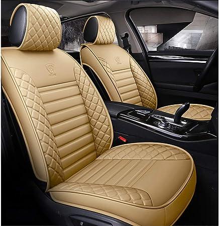 Auto Sitzbezüge Pu Leder Auto Autositzbezüge 5 Sitze Full Set Universal Fit Farbe Beige Standard Auto