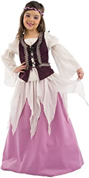 Limit Sport - Disfraz medieval de Julieta para niña (MI485): Amazon ...