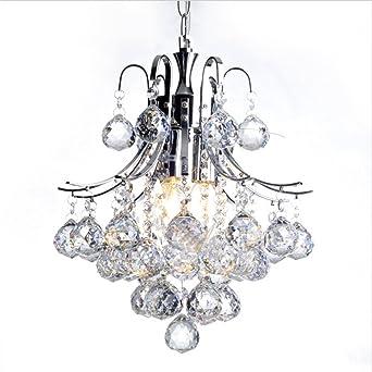 3 Flammig Kronleuchter Kristall Anhänger Pendelleuchte Moderne  Deckenleuchte Verstellbar Flur Deko Beleuchtung Wohnzimmer Lampe  Schlafzimmer Hängeleuchte