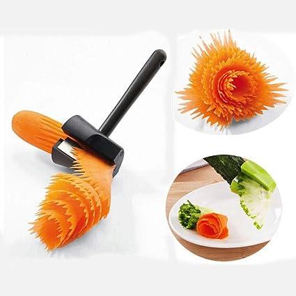 Bollaer Carrot Carving Roll Peeler Potato Spiral Slicer