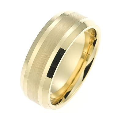 b4481f12b1 Schumann Design CORE by Herren-Ring Wolframcarbid gold ohne Stein (CORE  Basic Collection)