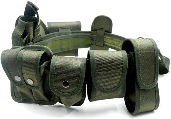 Andux Zone Cintur/ón Polic/ía T/áctico T/áctica Seguridad Militar Correas para la Caza al Aire Libre Negro ZSYD-01