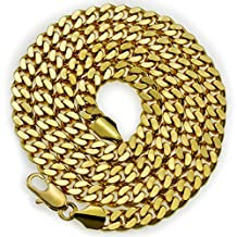wayne store-18k yellow gold Filled mens solid chain Necklace ring link gift N219