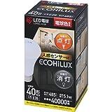 アイリスオーヤマ LED電球 人感センサー付 口金直径26mm 40W形相当 電球色 LDR5L-H-S6
