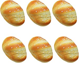 VOSAREA 6pcs Artificial Bread Fake Simulation Realistic Food PU Material Fake Cake Decoration Model Kitchen Toys Party Decoration Photography Prop