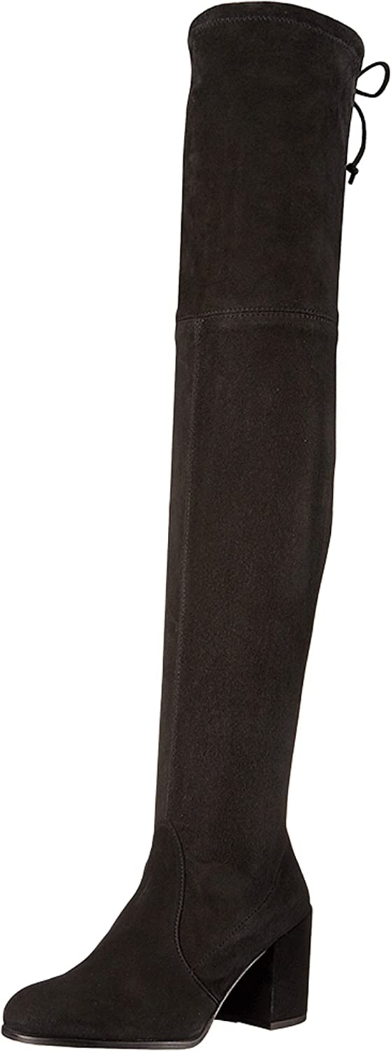 Stuart Weitzman Women's Tieland Over The Knee Boot B01MYZI982 6.5 C/D US|Black Suede