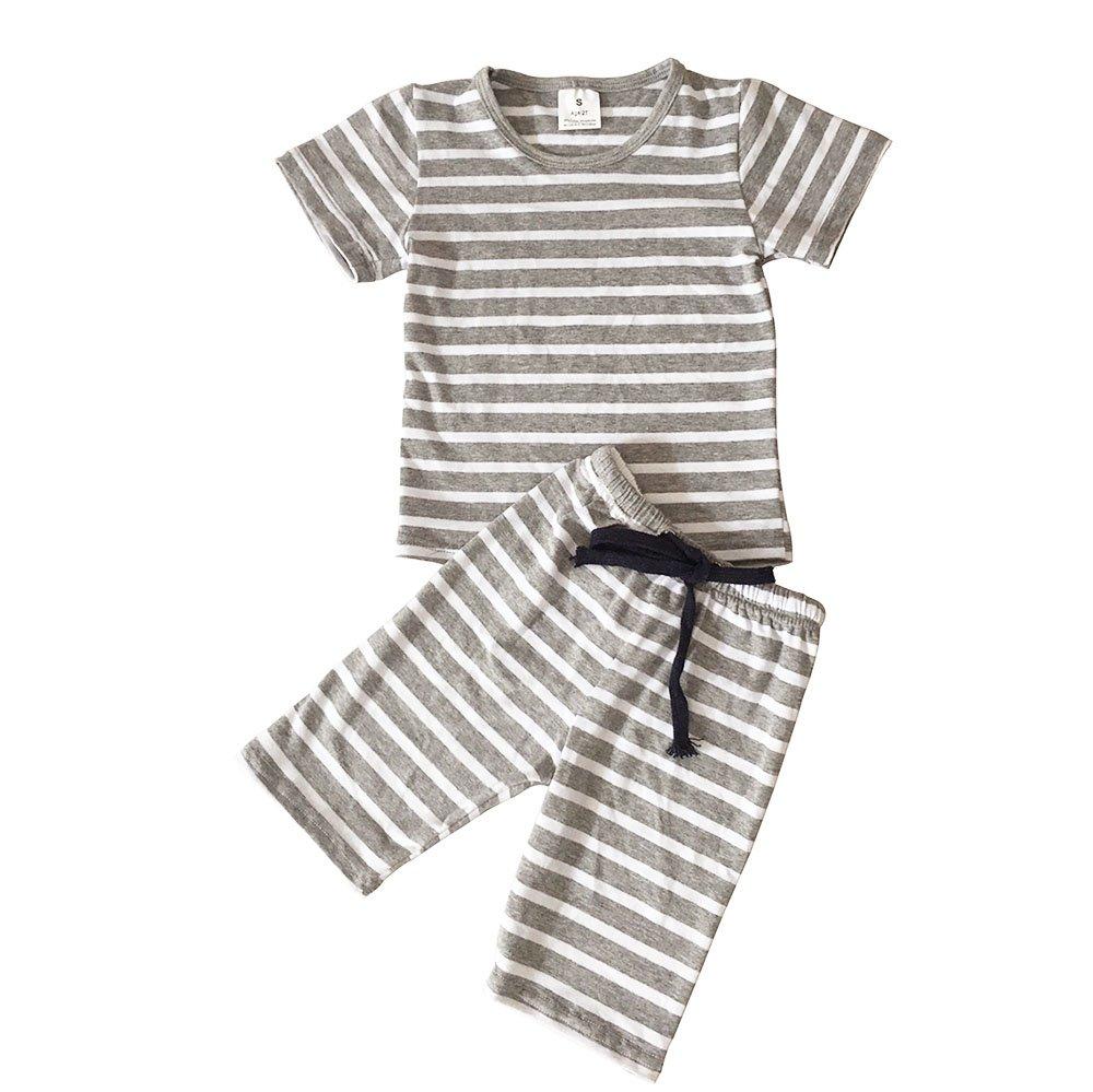 Baby Boy Girl's Summer 2 Piece Clothing Set Cotton Short Sleeve T-Shirt Shorts Sets 4T