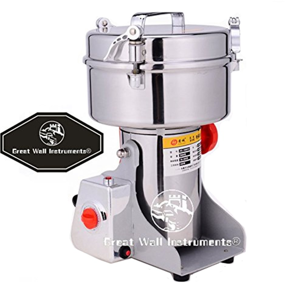 2000g Commercial electric stainless steel grain grinder mill Spice Herb Cereal Mill Grinder Flour Mill pulverizer by CGOLDENWALL