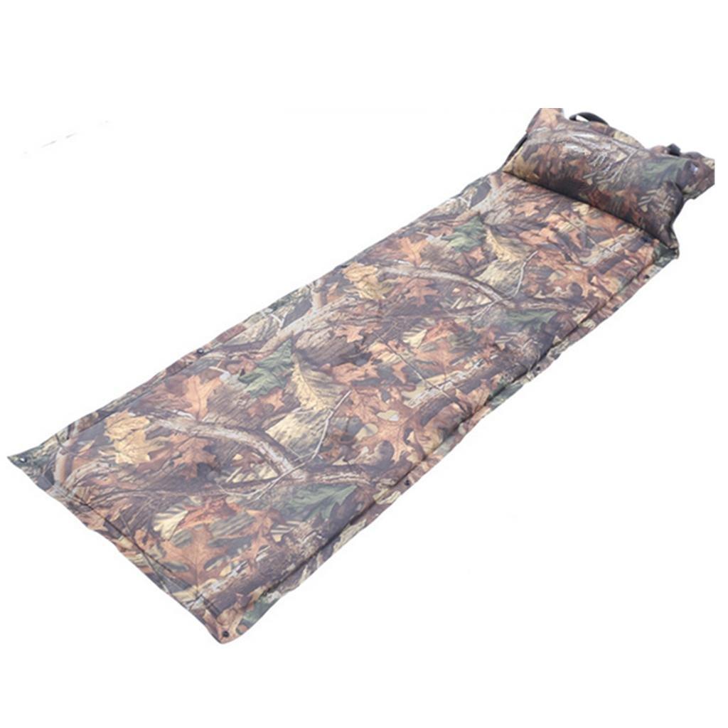 Aufblasbares Bett HETAO Air Bed Outdoor Camouflage Automatisches Aufblasbares Feuchtigkeits-Kissen-Luftkissen-Bett-Mittagessen-Bruch-Dose Spleiß-Grundmatte Matratze