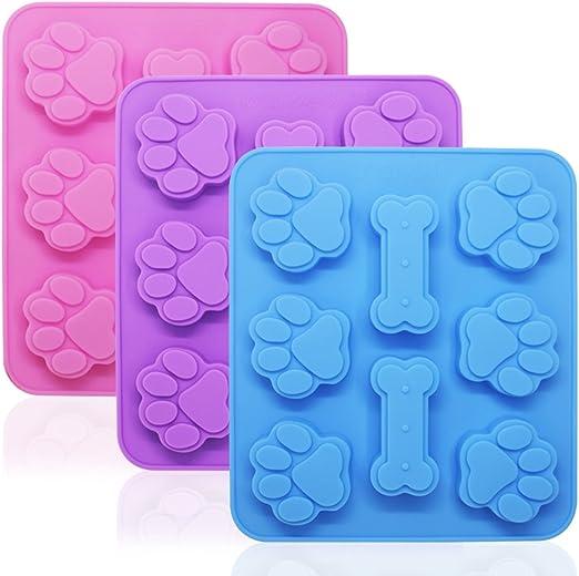 Amazon.com: 3 moldes de silicona con forma de hueso y hueso ...