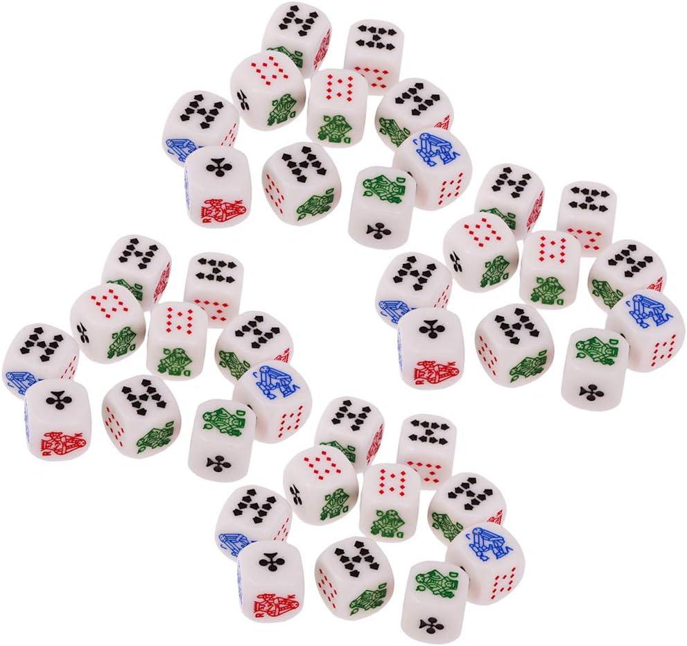 IPOTCH 40 Unids Juegos de Dados de Póker, Dados de Mentirosos: Amazon.es: Juguetes y juegos