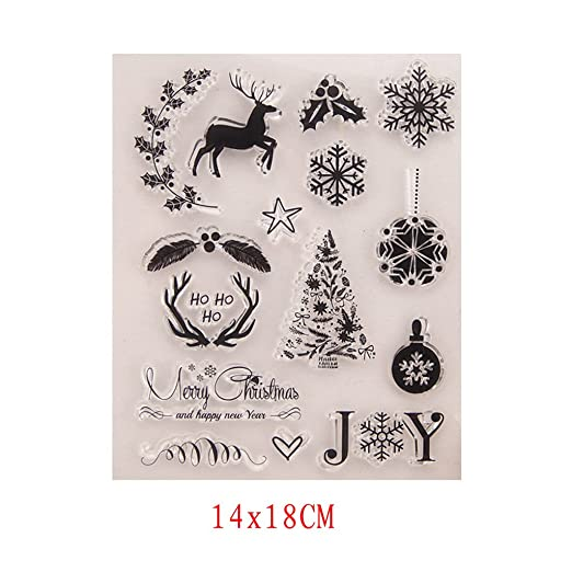 Kofun DIY Scrapbooking Transparent Stamps Silicone Rubber Clear Sheet DIY Card Gift Crafts