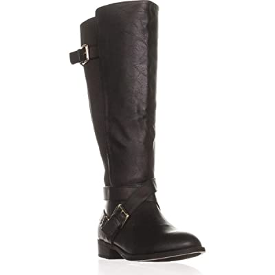 Thalia Sodi Womens Vada Faux Leather Over-The-Knee Riding Boots | Over-the-Knee