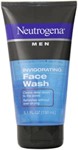 Neutrogena Men Invigorating Face Wash 5.1 oz (Pack of 5)