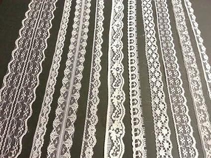 e156d245ace47 White Vintage Lace - 20 metre assortment, Bridal Wedding Trim Ribbon by  Crystals & Gems UK