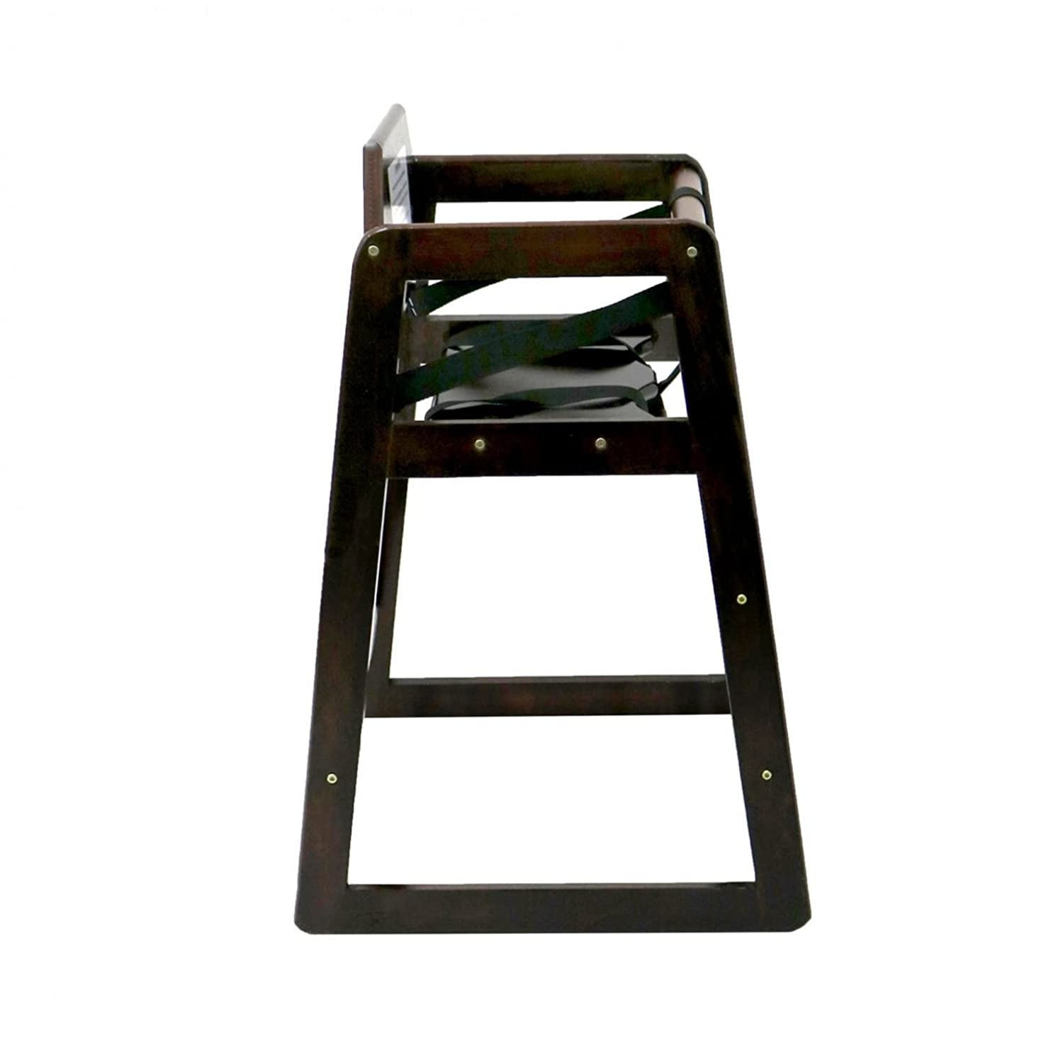 Dark Brown Oypla Stackable Kids Baby Wooden Feeding Commercial Home High Chair