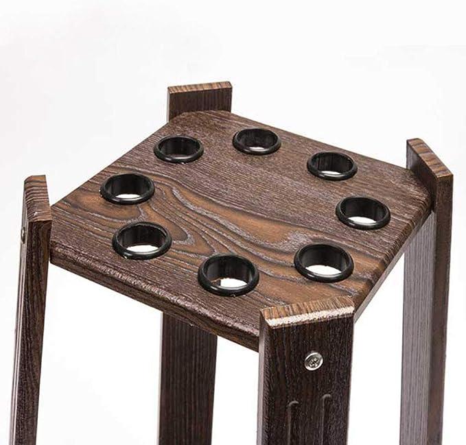 Dytiying - Soporte de pie de Forma Cuadrada, Resistente al Agua, de Madera, para 8 Palos de Billar, fácil de Montar, marrón: Amazon.es: Deportes y aire libre