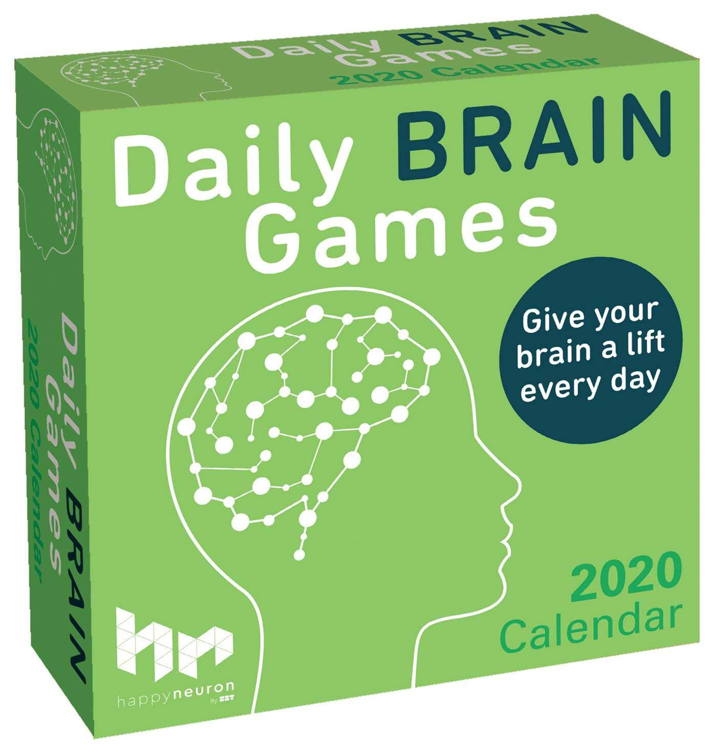 "Box for ""daily brain games"" daily calendar."