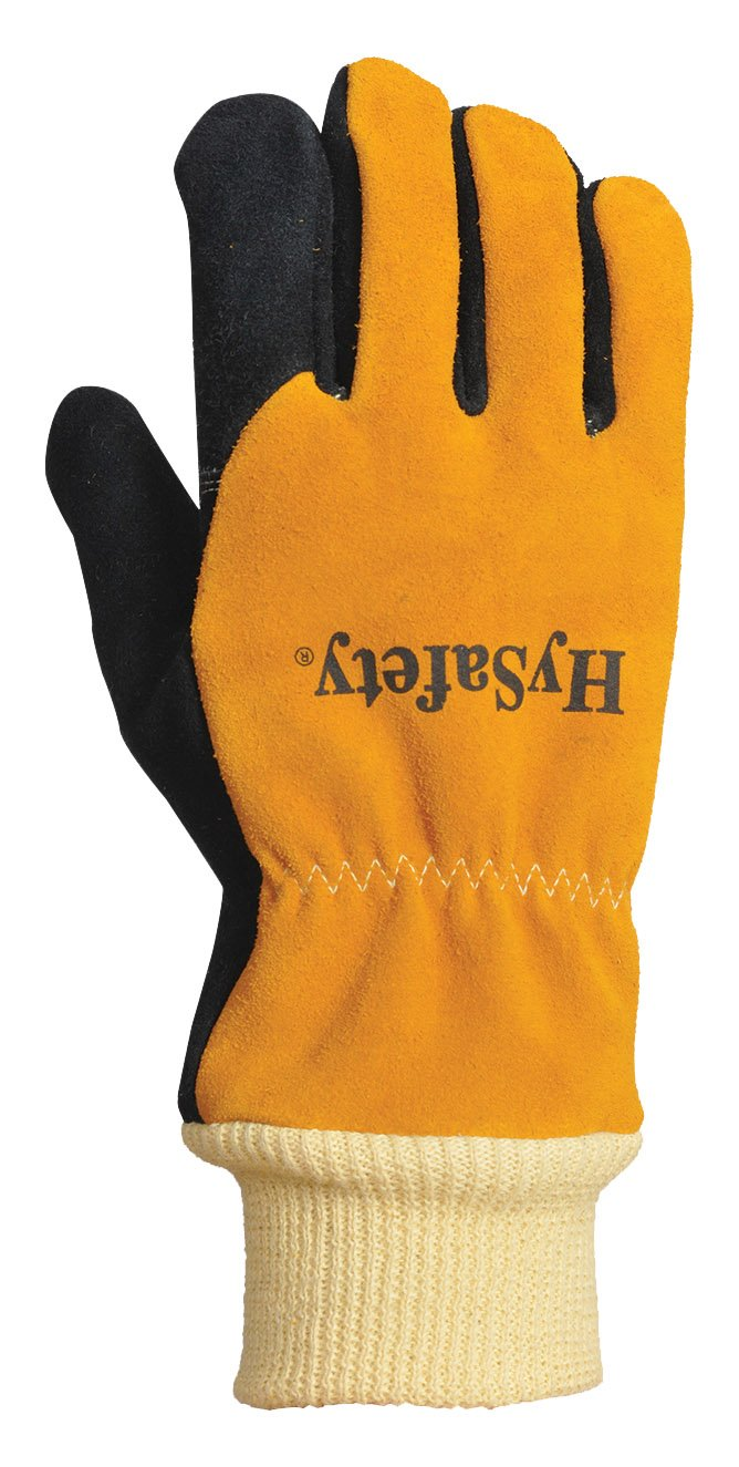 HySafety 7888XXL Structural Firefighting Glove with Knit Wrist Meets NFPA 1971-2013 Standards Leather, XX-Large XX-Large