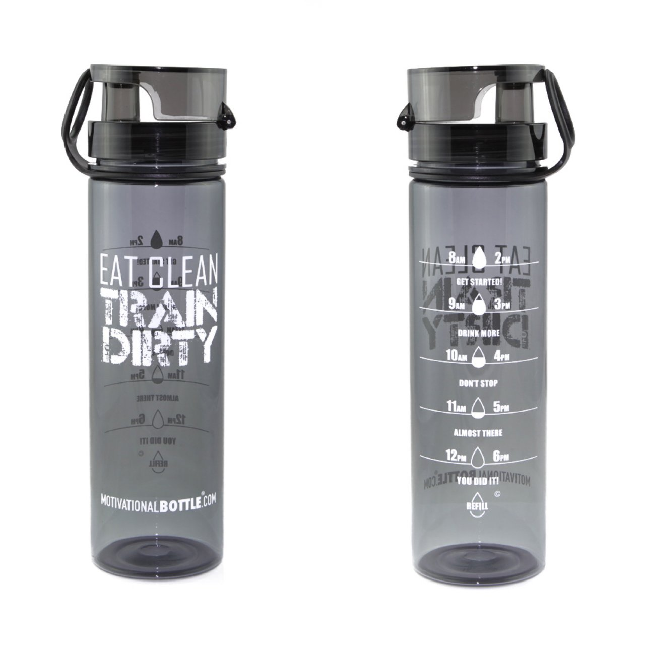 Goal Marked Times for Measuring Your Daily Water Intake 27oz Flip Lid Water Bottle Fitness -Workout-Sports Bottle BPA Free Non-Toxic Triton Measurements Motivational Bottle