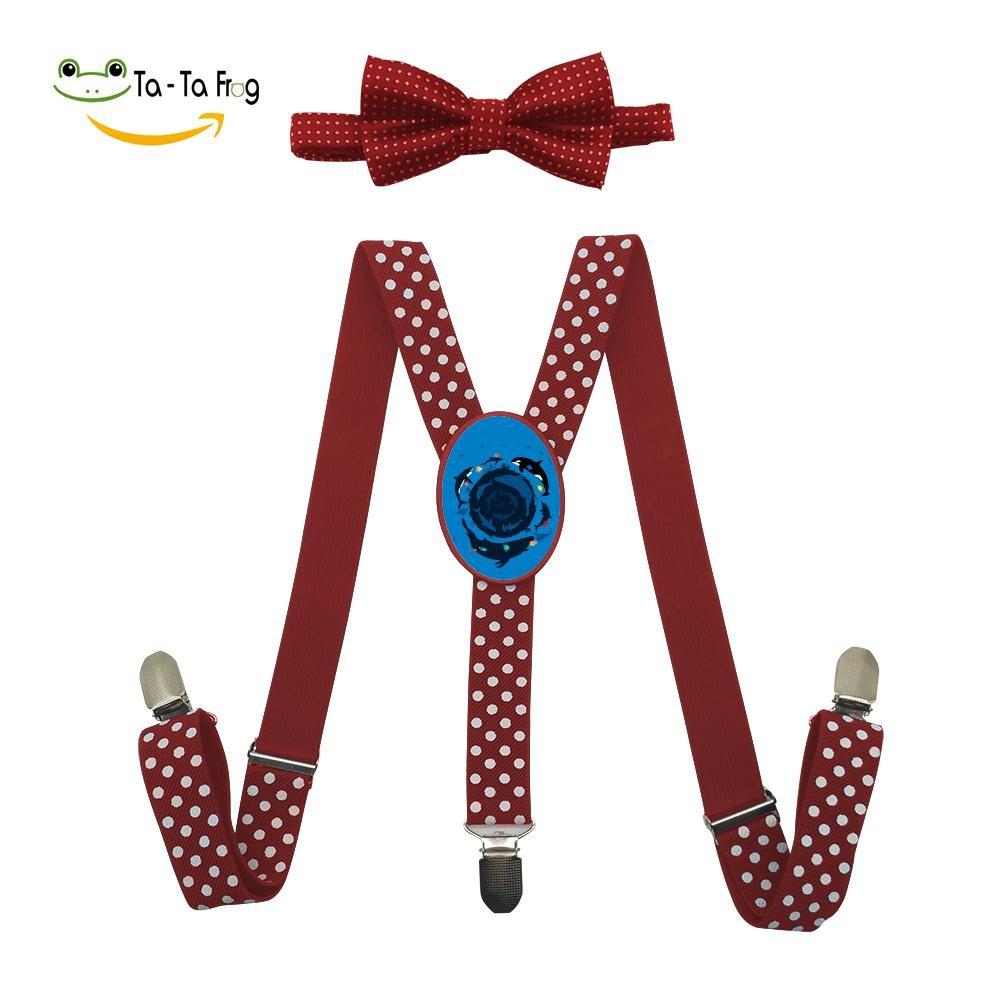 Grrry Kids Ocean 360 Adjustable Y-Back Suspender+Bow Tie