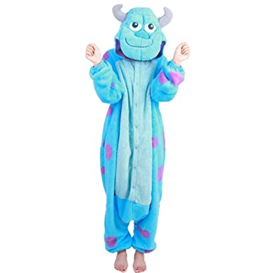 Wealth Unisex Adult Cosplay Onesie Christmas Party Costume Sully Pajamas (S) 9efc7cd13f7b