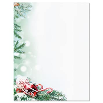 crystal pineboughs christmas letter papers set of 25 christmas stationery papers are 8 1