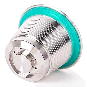 MUANI Filtro reutilizable recargable de café de la cápsula de la vaina de acero inoxidable Copa de café para la máquina de Nespresso con el cepillo: ...